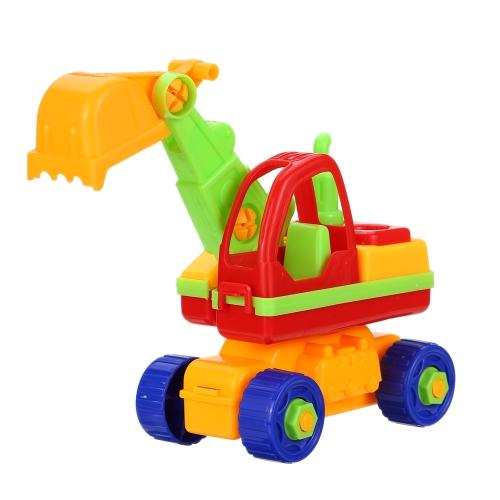ベビーキッズパズル教育おもちゃ子供の分解アセンブリ漫画カーギフト掘削機械おもちゃ楽しい遊びスタイル1