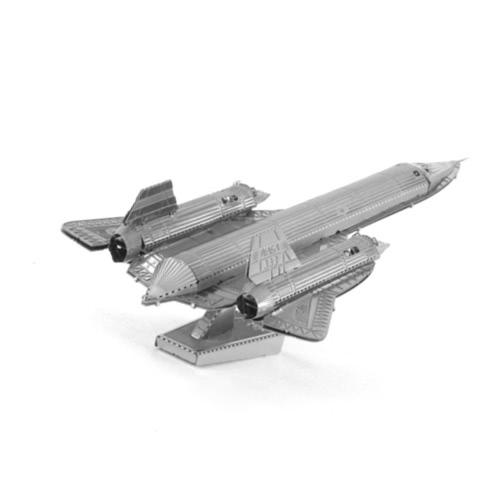 3DパズルSR-71ブラックバードスカウト -  3Dメタルモデルキット -  DIYモデル動物教育玩具