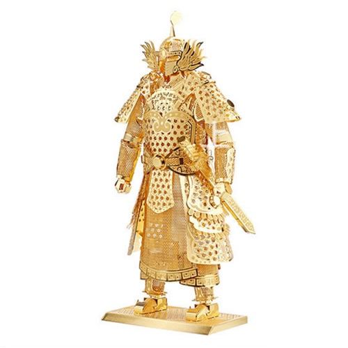 3D Puzzles General Armor Golden - 3D Metal Model Kit - DIY Model Animal Educational Toys