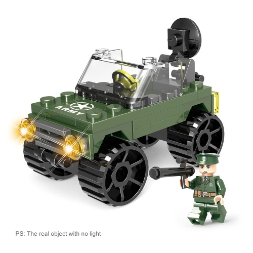 6-in-1 XIPOO Military Series 820pcs XP91015 Semi-Trailer with Tank Building Blocks Educational Toys