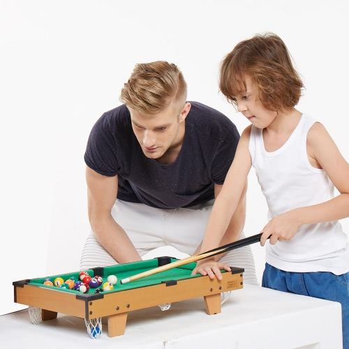 51 * 31.5 * 10.5cm HUANGGUAN TOYS HG201D Mini Billiards Table Educational Toys Family Use Game Room