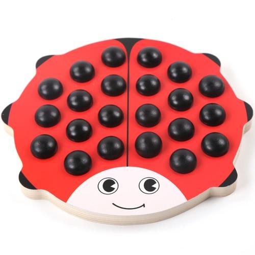 木製ビートルメモリゲーム古典チェスマンおもちゃラウンド木製パズルビートルメモリチェス教育玩具