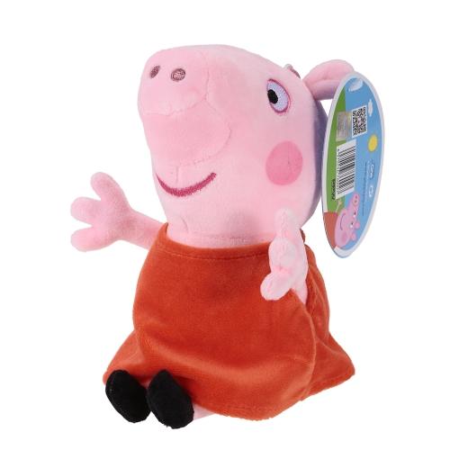 オリジナルブランドPeppa Pig 19cm Peppa Bagペンダントキーホルダーぬいぐるみぬいぐるみファミリーパーティークリスマス新年ギフト