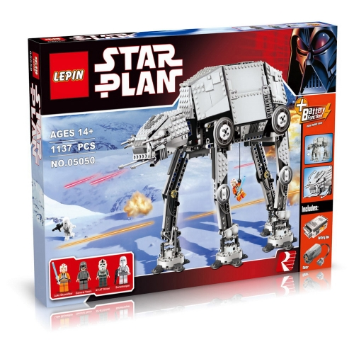 Original Box LEPIN 05050 1137pcs Star Wars Motorized Walking AT-AT - Star Wars Building blocks Kit Set
