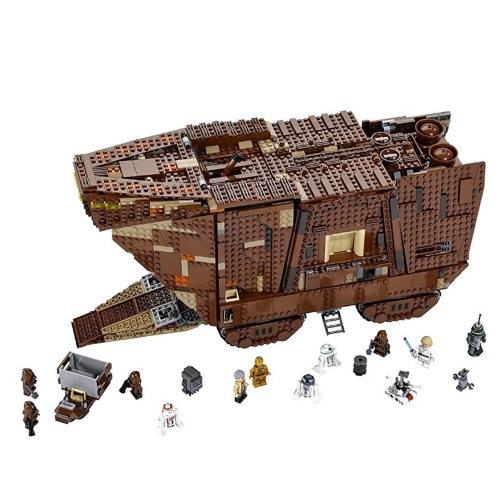 LEPIN 05038 3346pcs Star Wars Sandcrawler Building Blocks Kit Set - Plastic Bag Packaged