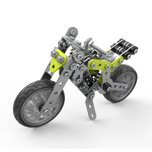 188Pcs Street Motorbike Intelligent Construction Set 3D Stainless Steel Model Kit DIY Gift Model Building Educational Toys