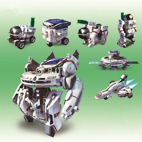 7 w 1 Edukacyjne Solar Power Robot DIY Kid Zabawki Science Hobbies Kit Souptoys Akumulator kosmiczny Model Toy