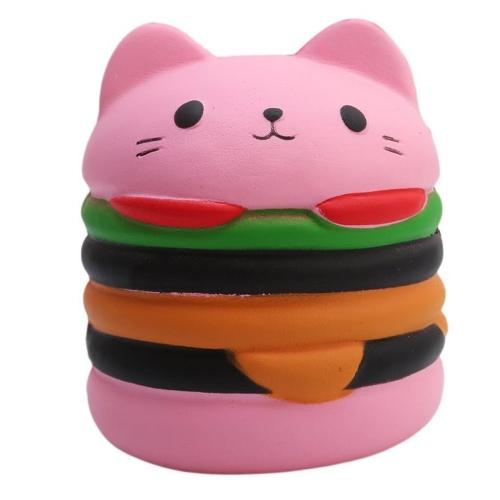 Squishyゆっくりと上昇ピンクバーガーコレクションギフトの装飾面白いおもちゃ