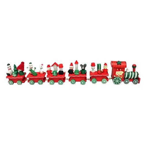 Wooden Mini TraiWooden Mini Train Toy Santa Claus n Toy Santa Claus