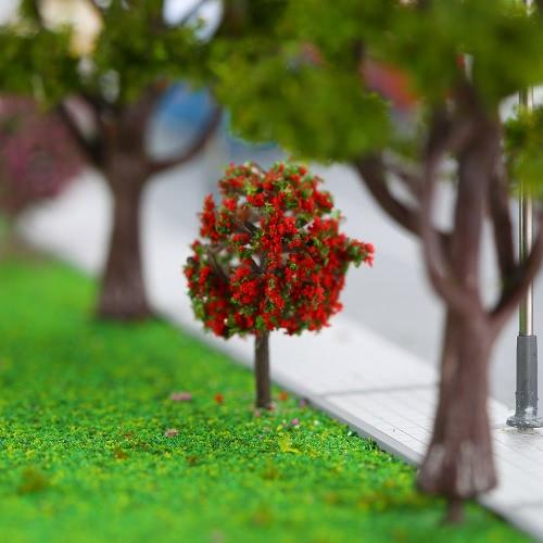 3 Farben Kugelförmige Blumen Bäume Modell Zug Layout Garten Landschaft Landschaft Bäume Diorama Miniatur 30 Stück gemischt