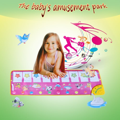 Colorful Musical Learning Mat Flash Piano Music Carpet Blanket Touch Toy for Baby Kids 100 * 36 CM