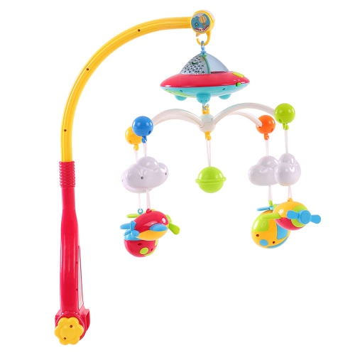 Baby Bed Bell Musical Mobile Crib Dreamful Bed Ring Hanging Rotate Bell Rattle Intelligence Educational Toy