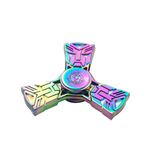 Купить New Style Rainbow Fidget Toys Anti-Ansiedade Spinner 360 ° Tri Triangle Focusing Edc Focus Toy Para Crianças Adultos Reductor De E