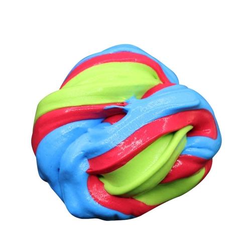 DIYの柔らかいふわふわのフロムスライム香りのあるストレスリリーフなしボラックススラッジコットンマッドリリース子供と大人のための粘土おもちゃplasticineマルチカラー1