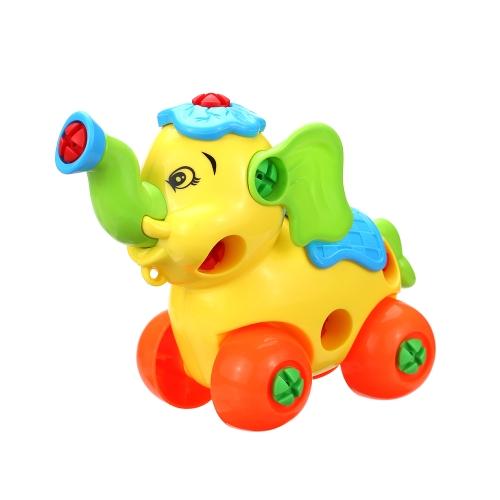 赤ちゃんキッズ動物パズル教育玩具子供分解アセンブリ漫画プラスチックアセンブリデザインおもちゃギフトスタイル1