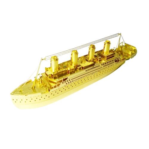 3Dパズルタイタニックゴールデン -  3Dメタルモデルキット -  DIYモデル動物教育おもちゃ