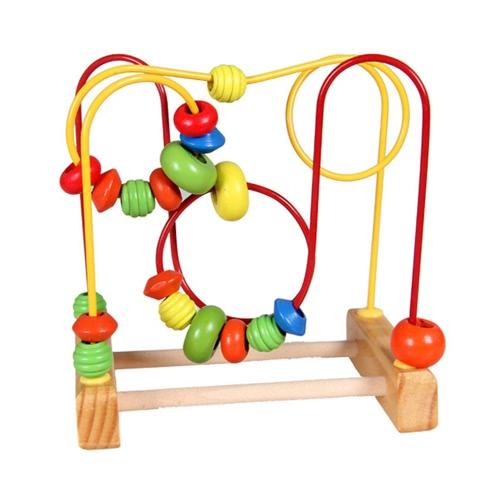 Mini Wooden Around Perlen Holz Perle Maze Baby Intellektuelle und Gehirn Entwicklung Early Educational Toys für Kinder
