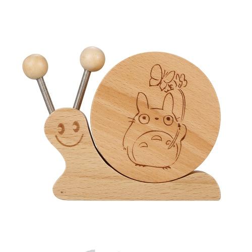木製のブナのオルゴール子供のためのかわいい動物の形と美しい音楽漫画のイメージミュージックボックス教育玩具