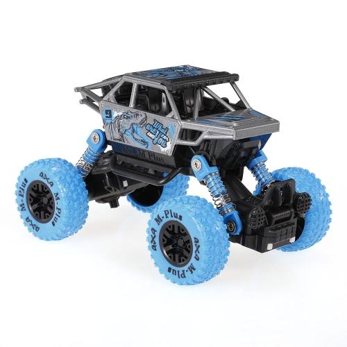 クラシックプルバックカー1/32アロイ4WDビッグホイールショック耐性オフロードクライミングカープルバック車両おもちゃトラック