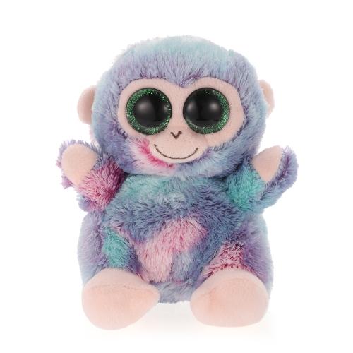 12cm große Augen kleine Glück Affe Plüschtier große Augen gefüllt Tier Weihnachten und Geburtstagsgeschenk für Kinder