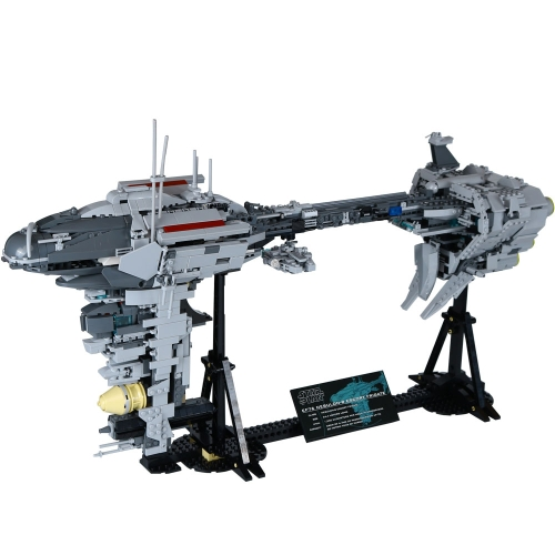 Oryginalne pudełko LEPIN 05083 1736 szt. Star War Series MOC Nebulon Model B Set Medical Frigate Building blocks Kit