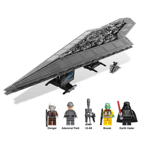 LEPIN 05028 3208pcs Star Wars Series Execytor Super Star Destroyer Spaceship Building Block Kit Set - Sacchetto di plastica confezionato