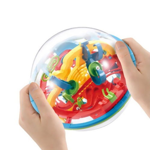 3D Magic Intellect Ball Balance Maze Puzzle Toy Educational Game for Children and All Ages with 209 Challenging Barriers