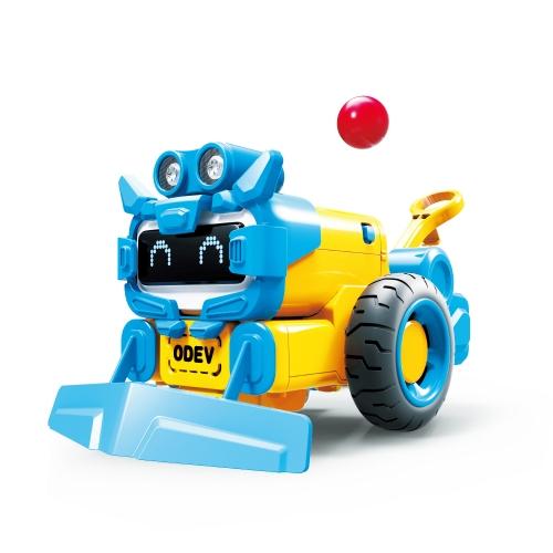 ODEV STEMスマートロボットDIYキット教育用対話型玩具変形可能プログラマブルコードロボット工学子供用学習年齢8歳以上