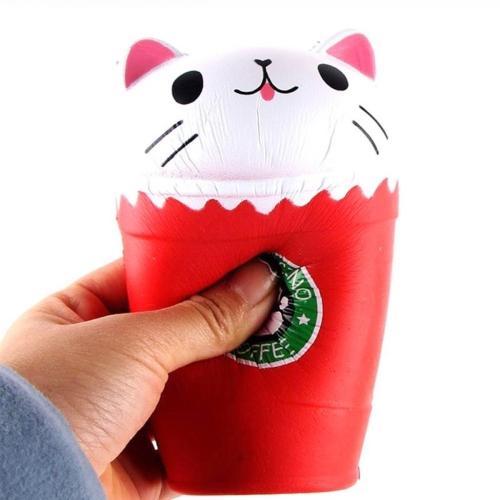 Squishy Slow Rising Cute Kaffeetasse Sammlung Geschenk Dekor lustige Spielzeug