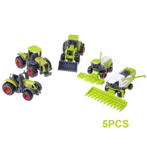 5szt DIECAST Ciągniki rolnicze Zestaw pojazdów w Hanging Box Farming Playset Zabawa