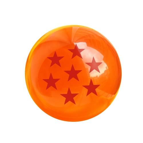 Acrylic Dragon Balls Crystal Transparent Balls 7.6 CM Diameter Three Star with Gift Box
