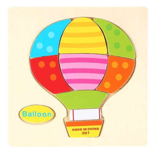 Balloon Shaped Puzzle Wooden Blocks Cartoon Toy for Children Baby Kids Intelligence Educational Toy