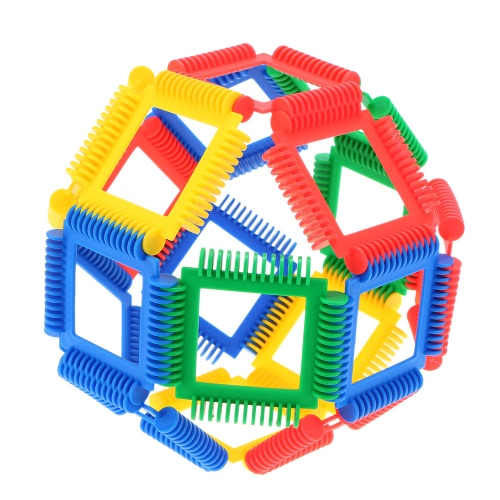 Plastic 42 Pieces Geometry Blocks Building Blocks Bricks Educational Toy for Baby Kids