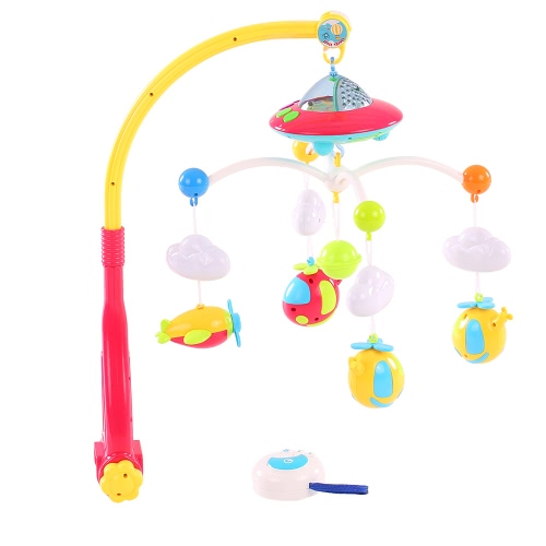 Baby Bed Bell Musical Mobile Crib Dreamful Bed Ring Hanging Rotate Bell Rattle Parent Remote Control Intelligence Educational Toy
