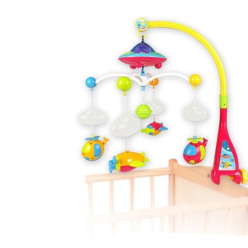 Dziecko Dzwonek Bell Musical Mobile Szopka Śnieżne Pierścień Pościel Wiszący Obróć Bell Rattle Rodzicowe Zdalne Sterowanie Inteligencja Edukacyjne Zabawka
