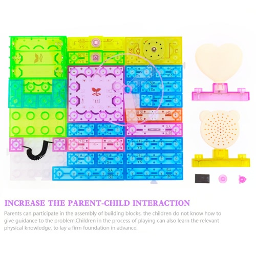 115 Projects DIY Kits Integrated Circuit Building Blocks Electronic Playground Educatioal Toy Plastic Model Kits Science Kids Toys 34 Pieces