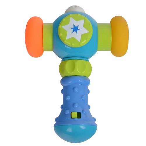 GOODWAY G104 Soft Knocking Hammer with Sound and Light Baby Toys Toddler Play Hammer Improve Baby's Operation Ability