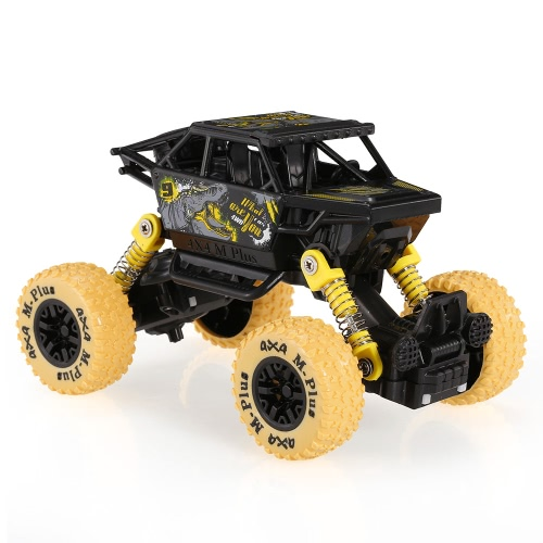 Klassisches Pull Back Car 1/32 Alloy 4WD Big Wheels Schock Resistant Off Road Klettern Auto Pull Back Fahrzeug Spielzeug LKW