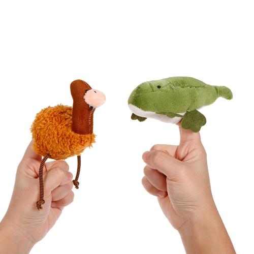 5本の動物の指人形オーストラリアの代表的な動物ぬいぐるみフィンガードール子供早期の教育おもちゃ