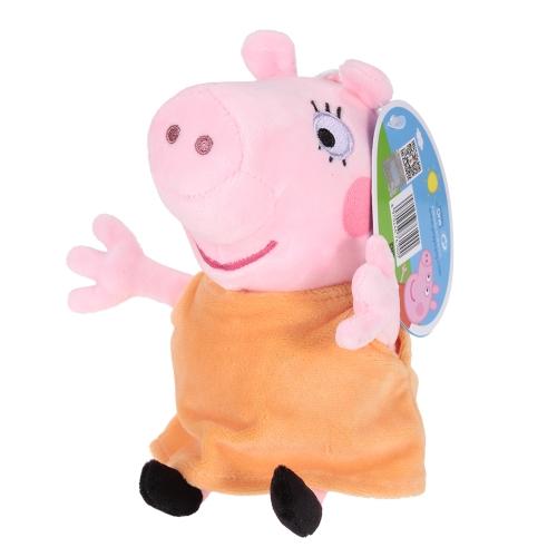 オリジナルブランドPeppa Pig 19cmママバッグペンダントキーホルダーぬいぐるみぬいぐるみファミリーパーティークリスマス新年ギフト