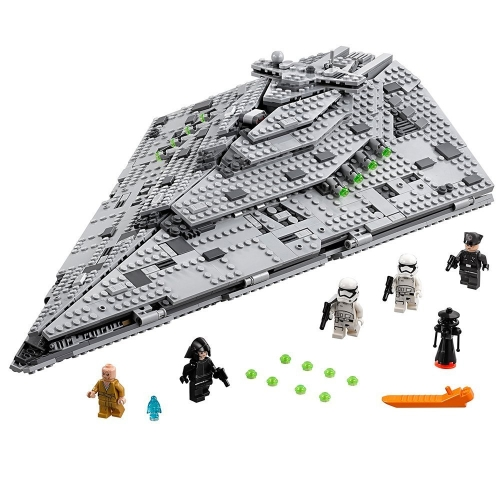 LEPIN 05131 1585pcs Star Wars VIII First Order Star Destroyer Star Wars Spaceship Building blocks Kit Set - Plastic Bag Package