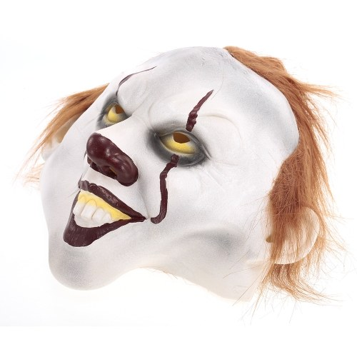 Stephen King's It Pennywise Mask Superhero Latex Costume Mask Headgear for Halloween Cosplay Party Decoration Backroom Film Props