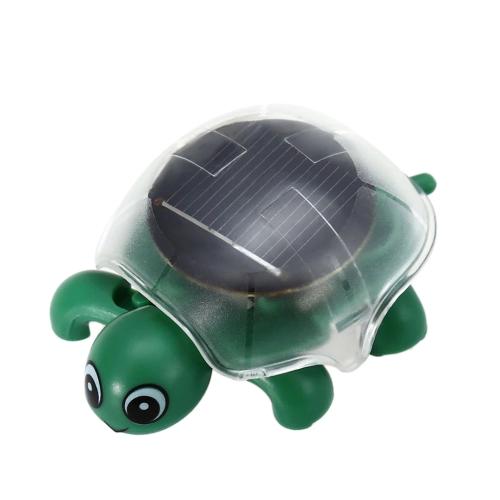 1 PCの太陽エネルギーを駆動ミニクロールカメかわいいカメ太陽の下で実行教育玩具ガジェットギフト