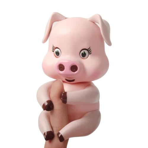 Autentyczne Palce Zwierzęta Zabawki Interaktywne Palce Świnie Zwierzęta Kolorowe Elektroniczne Palce Lings Indukcja Zabawka Puppet Sleep Motion Pet Dla Kid Prezent Urodzinowy