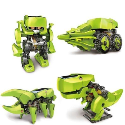 Montaż 4 w 1 Edukacyjne Nauka Nauka Solar Robot Zabawka Maszyna do wiercenia Dinozaur Owady Zestaw DIY