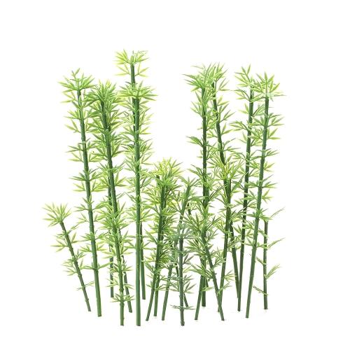 Kids Toy 100 Pcs Green Plastic Model Bamboo Trees Scale 1:75-1:300 Garden Decor Train Scenery Landscape