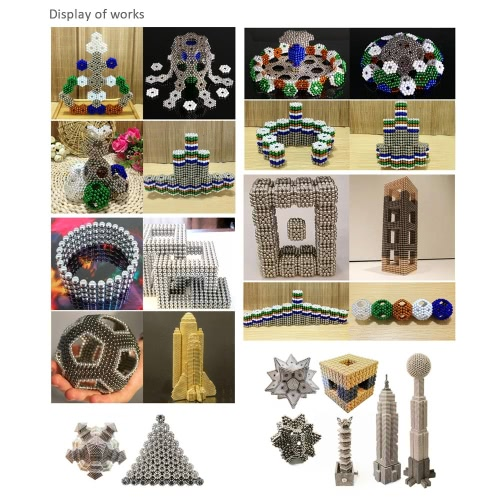 3 mm 324 Pieces NdFeB Magnetic Beads Balls Magnets Magic Puzzle Educational Toy