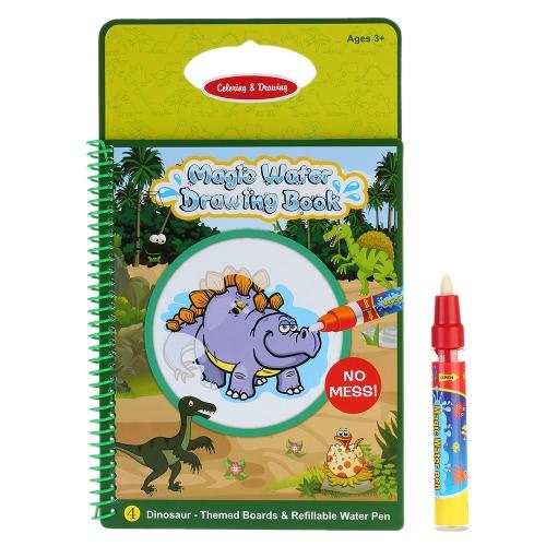 Нетоксичные магии воды книга Рисунок раскраски книга каракули с пером магии динозавр серии живопись не чернил образовательные игрушки