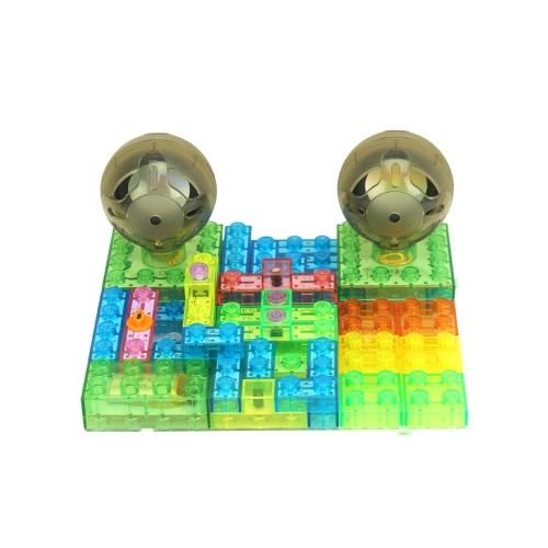 4GB MP3 Integrated Circuit Building Blocks Electronic Blocks DIY Kits Plastic Model Kits Science Kits  with Remote Controller Educ