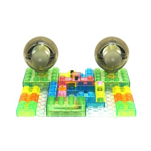 4GB MP3 circuito integrato Building Blocks blocchi di elettronica fai da te kit in plastica Modello kit di scienza kit con telecomando Educatioal giocattolo per i bambini